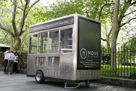 Нью-йоркская компания MOVE Systems за $1 в месяц сдает в аренду суперсовременные экологичные автолавки по продаже еды