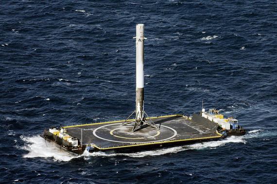 normal 1s6h SpaceX Илона Маска посадила ракету на морскую платформу
