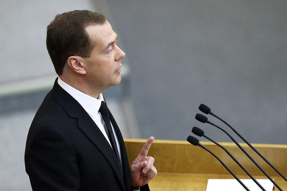 Премьер-министр Дмитрий Медведев в Госдуме