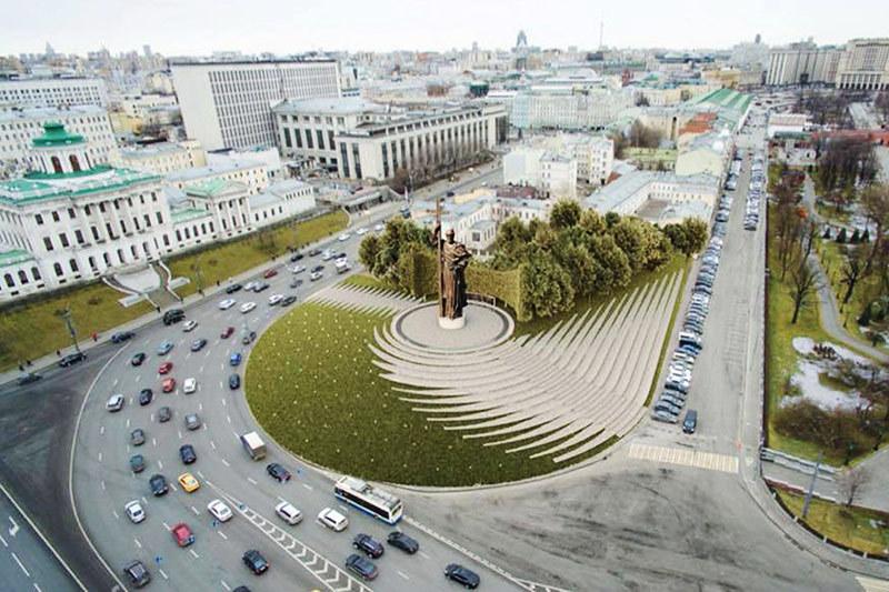 Финальный проект благоустройства Боровицкой площади вокруг памятника князю Владимиру