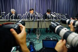Пресс-конференция руководителей Mitsubishi Motors