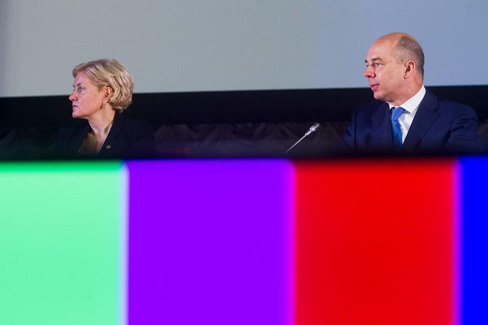 Вице-премьер Ольга Голодец и министр финансов Антон Силуанов