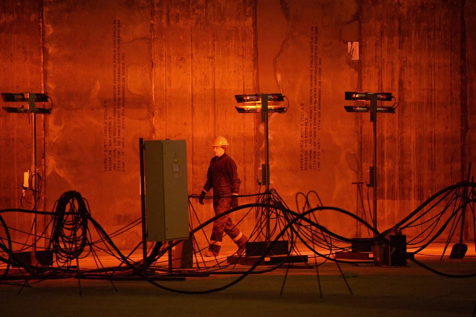Строительная площадка резервуара для хранения сжиженного природного газа