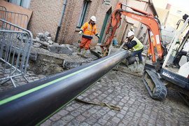 По трубе под улицами Брюгге будет перемещаться 5700 литров пива в час