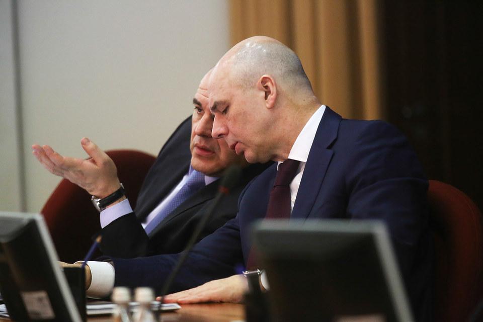 Министр финансов  Антон Силуанов и руководитель ФНС Михаил Мишустин