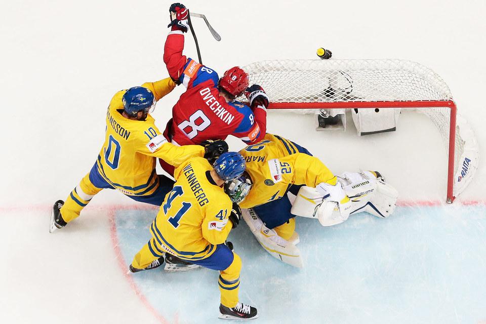 Сборная России выиграла у команды Швеции со счетом 4:1