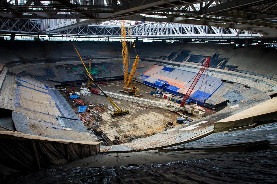 Стадион обыскивают по делу о мошенничестве
