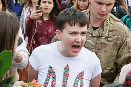 Надежда Савченко прилетела в Киев