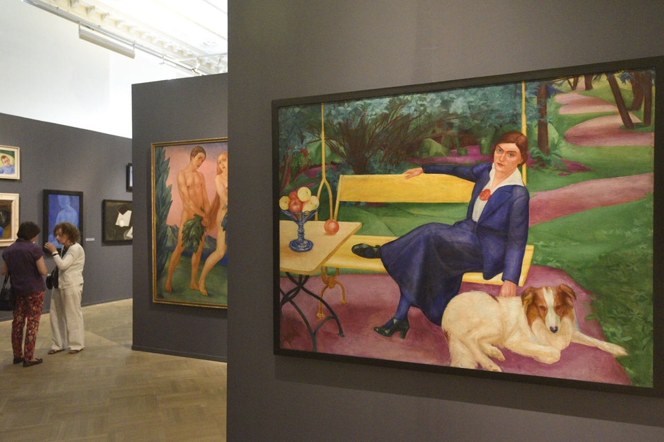 Некоторые работы на выставке показаны впервые