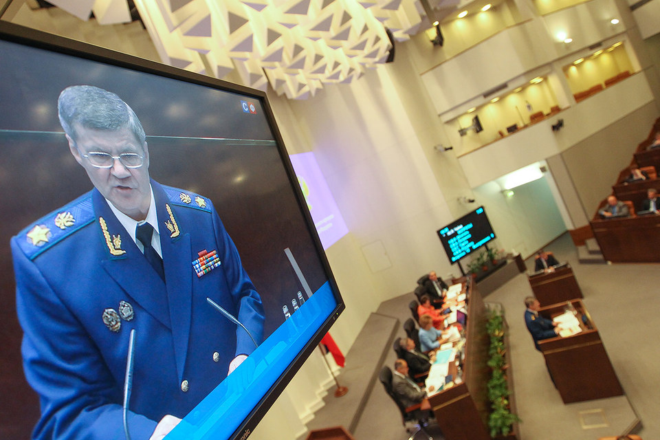 Сенаторы переназначили Юрия Чайку генпрокурором