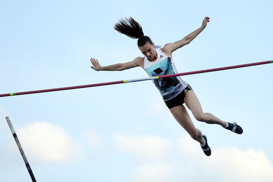 Российских легкоатлетов не допустят на Олимпиаду-2016 как команду (на фото двукратная олимпийская чемпионка Елена Исинбаева)