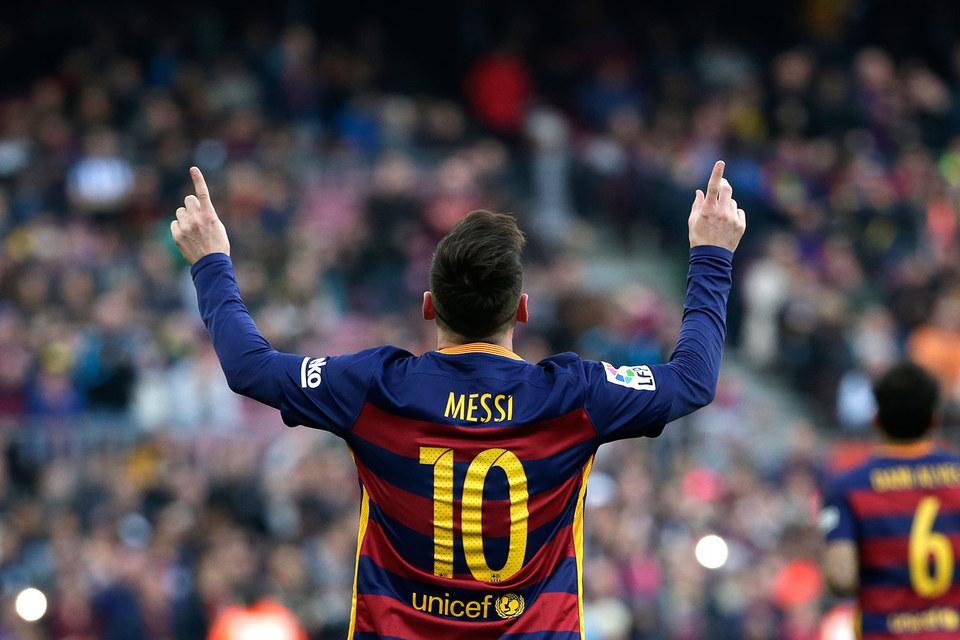 Нападающий испанского FC Barcelona Лионель Месси