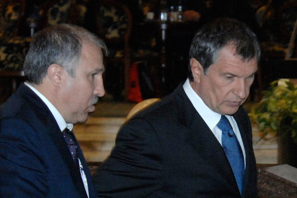 Эдуард Худайнатов (слева) и Игорь Сечин