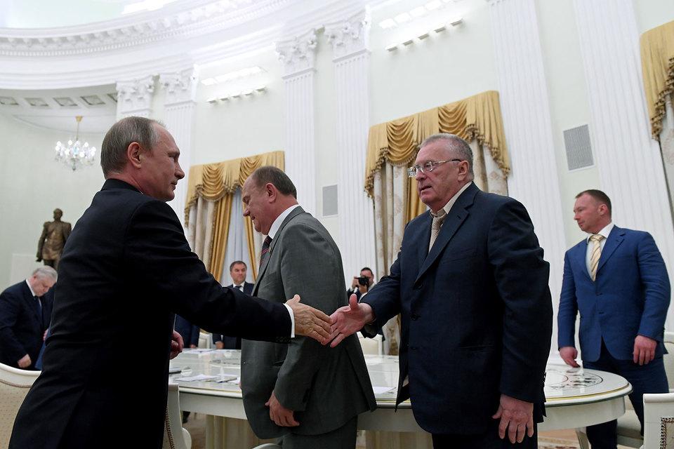 Владимир Путин увидел в партийцах готовность к конструктивной работе