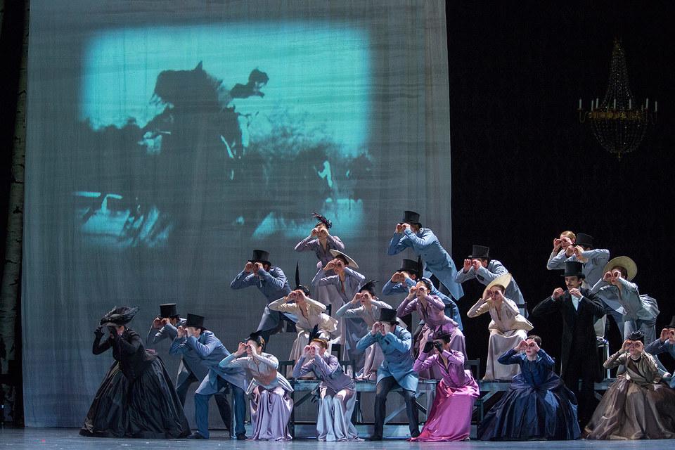 Скачки – место встречи всех персонажей балета