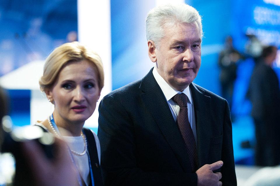 Депутат Ирина Яровая и мэр Москвы Сергей Собянин