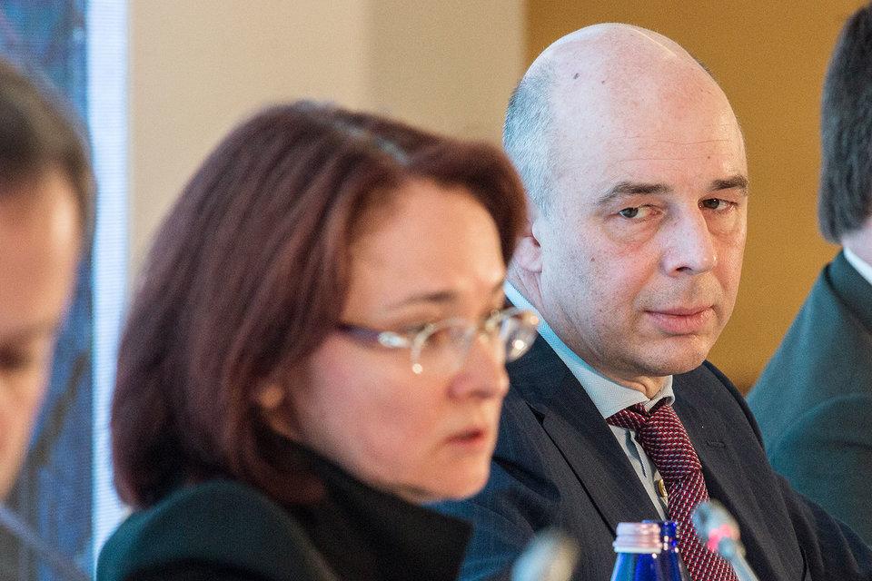 Министр финансов Антон Силуанов и председатель ЦБ Эльвира Набиуллина