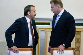 Курирующий отрасль вице-премьер Аркадий Дворкович (слева) и первый вице-премьер Игорь Шувалов, которого просили перенести ЦЭД из Бронки
