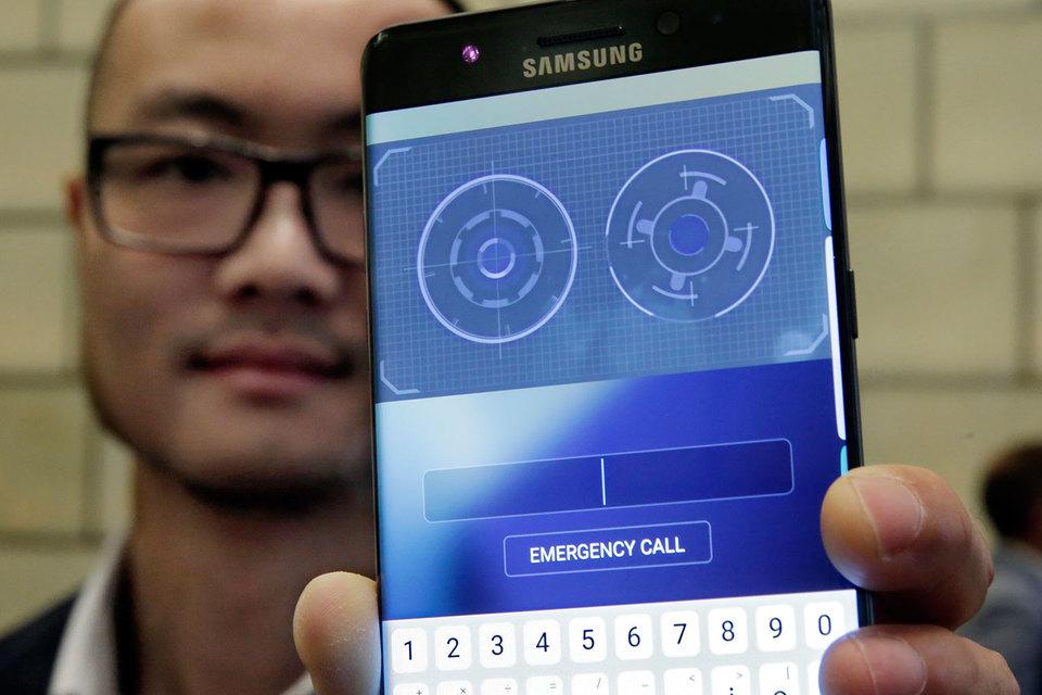 Samsung добавил в новый смартфон Galaxy Note 7 сканер радужной оболочки глаза