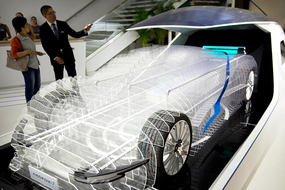 Модель электромобиля Arcfox-7 компании BAIC