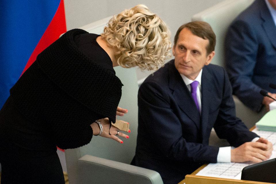 «Единая Россия» сформировала список кандидатов, которые будут представлять партию на начинающихся в понедельник теледебатах, в частности председатель Госдумы Сергей Нарышкин