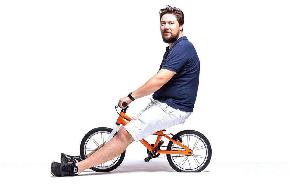 Станислав Регинский полгода изобретал детский велосипед