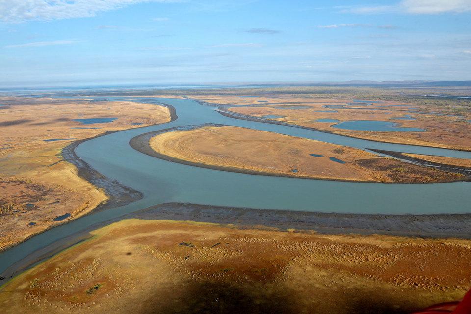 Река Далдыкан в районе Норильска