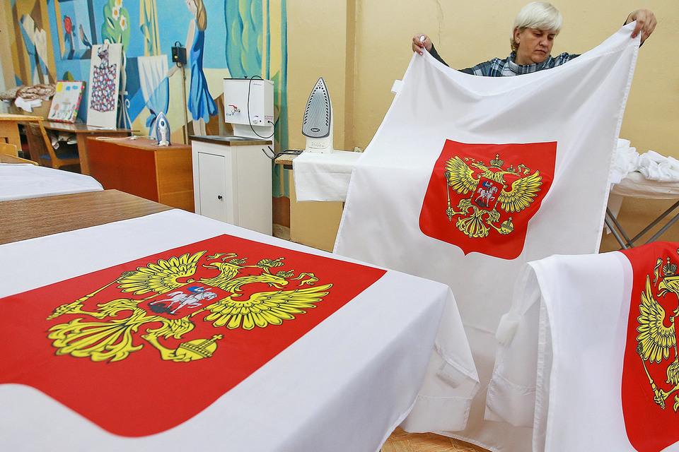 Подготовка одного из избирательных участков перед единым днем голосования