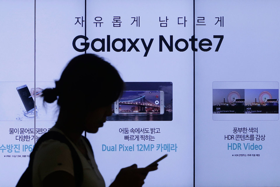 Новые Galaxy Note 7 на замену отозванной партии появятся 21 сентября