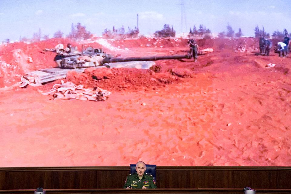 Начальник Главного оперативного учправления Генштаба ВС России генерал-лейтенант Сергей Рудской (на фото) заявиел, то одностороннее соблюдение перемирия в Сирии правительственными войсками потеряло смысл
