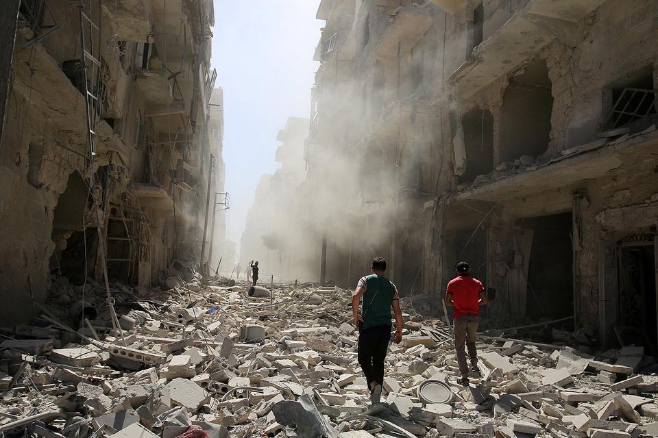 Франция, ФРГ, Италия, Британия, США и ЕС требуют прекратить наступление на Алеппо
