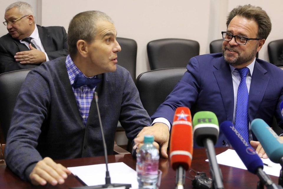 Гендиректор и совладелец S7 Владислав Филев и гендиректор «Энергии» Владимир Солнцев