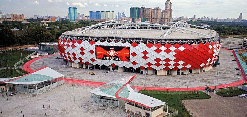 Для крыши стадиона «Открытие Арена» использована белая энергосберегающая мембрана
