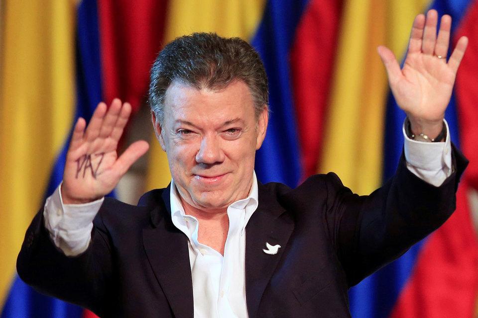 Нобелевская премия мира присуждена президенту Колумбии