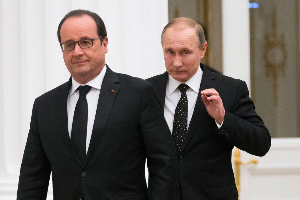 Кремль подтвердил отмену переговоров Путина с Олландом в Париже