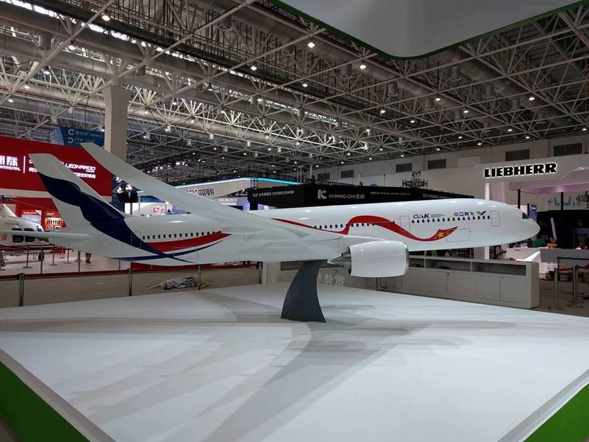 Модель российско-китайского широкофюзеляжного дальнемагистрального самолета