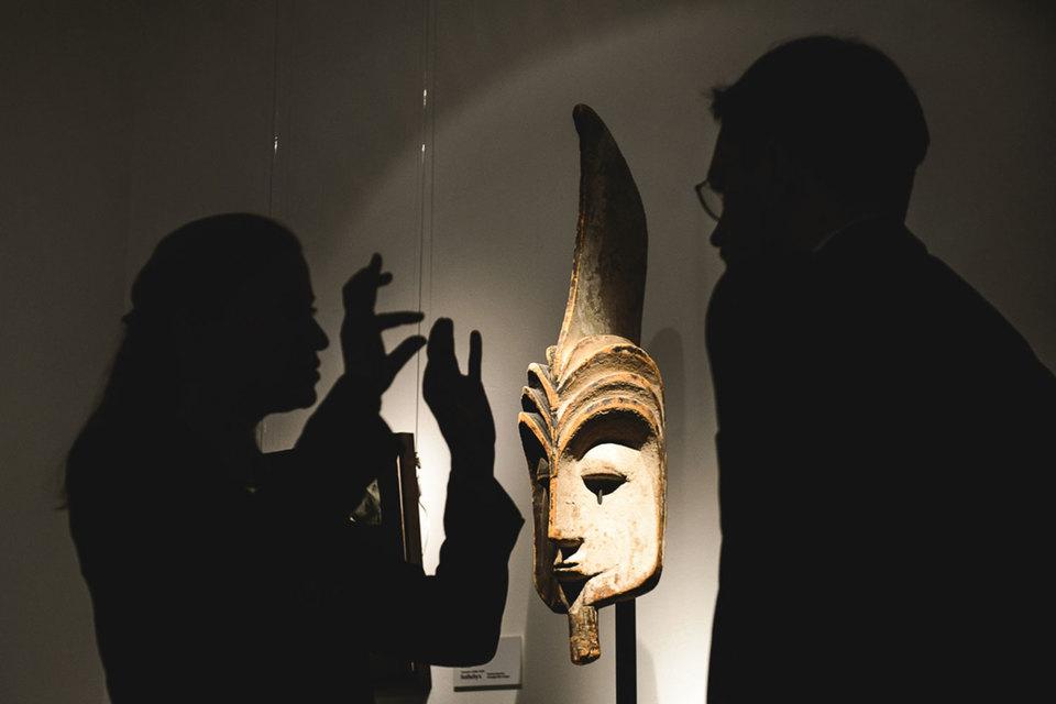 Впервые на московской предаукционной выставке представлена африканская маска