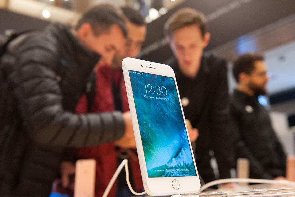 За первые восемь дней продаж iPhone 7 Apple удалось продать в России около 58 000 аппаратов