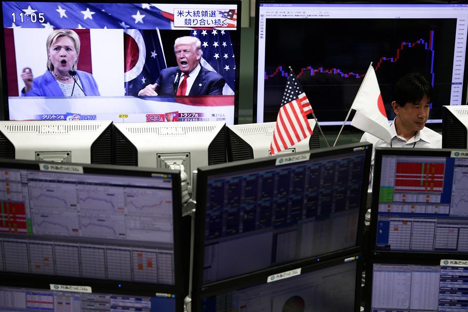 Мировые рынки рушатся на сообщениях о победе Трампа