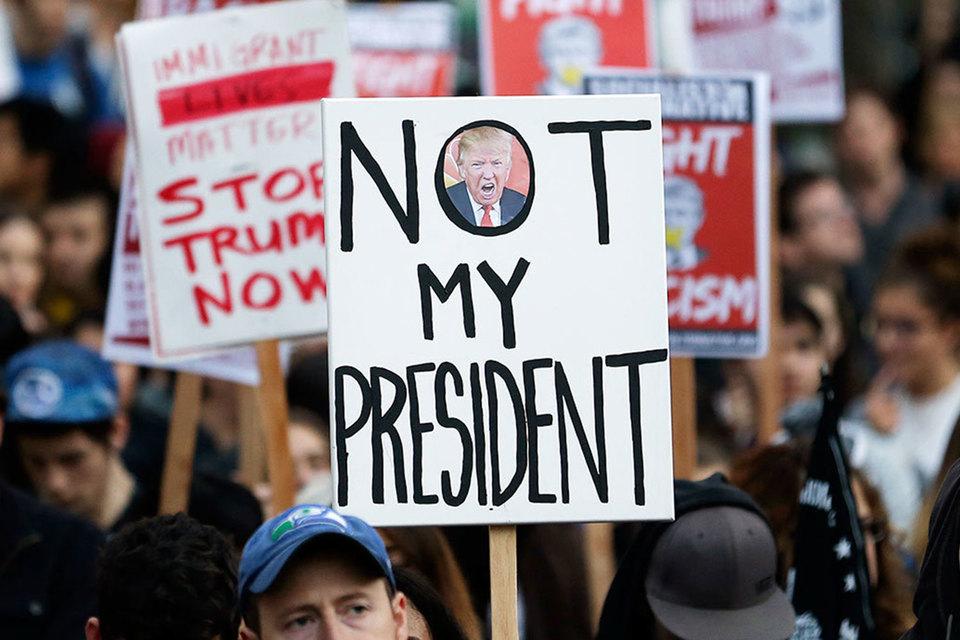 Результатом протестов против избрания Дональда Трампа может стать формирование внепартийного политического движения