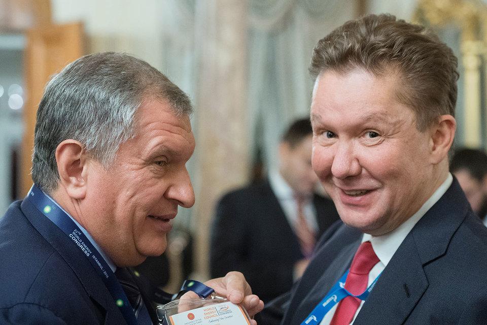 Госкомпаниям (на фото слева направо: главный исполнительный директор «Роснефти» Игорь Сечин и предправления «Газпрома» Алексей Миллер) удалось избавить свои закупки от жестких правил
