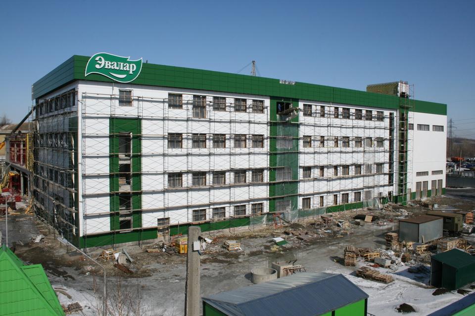 Строительство нового производственного корпуса