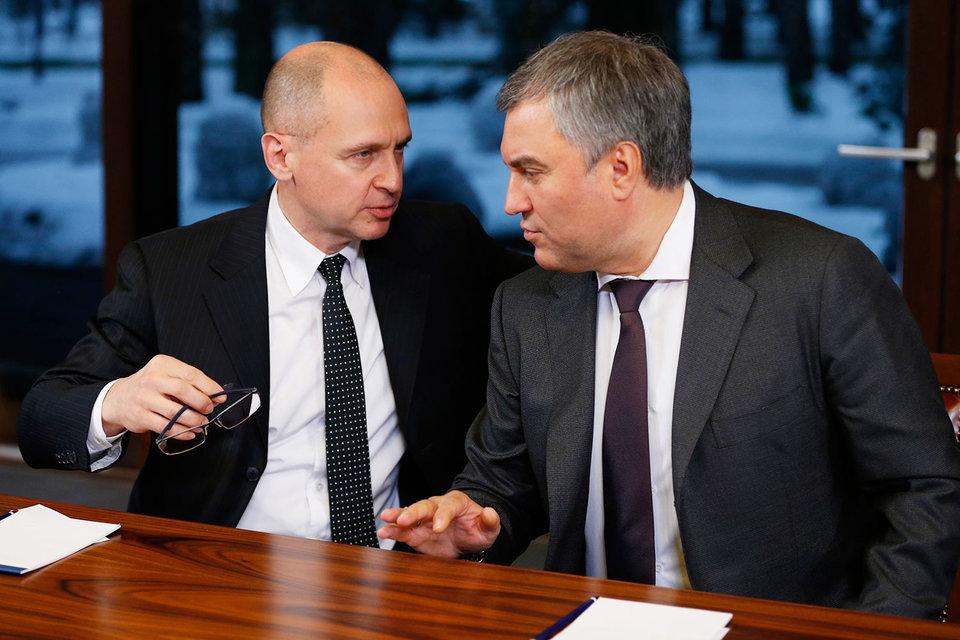 Сергей Кириенко (слева) убедил Вячеслава Володина в необходимости конструктивного взаимодействия Госдумы с Кремлем