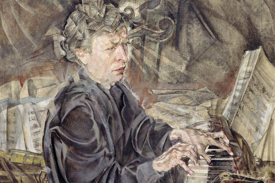 Ферруччо Бузони на портрете кисти Макса Оппенгеймера