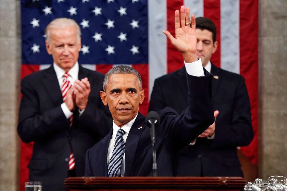 Последнее обращение уходящего президента США к конгрессу в стране сочли слишком оптимистичным