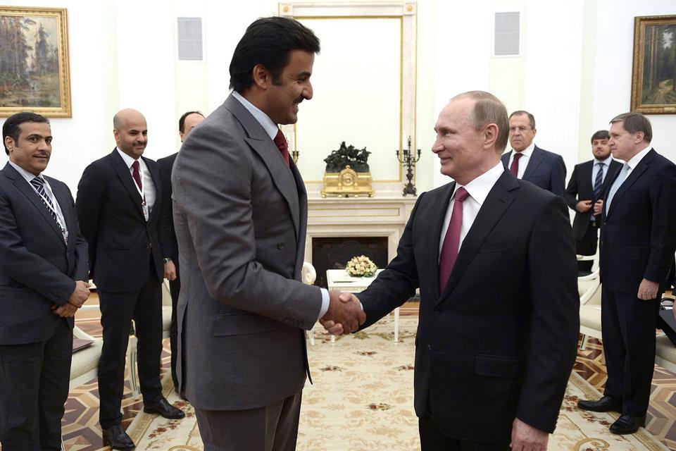 Владимир Путин встретился с эмиром Катара Тамимом бен Хамад аль-Тани