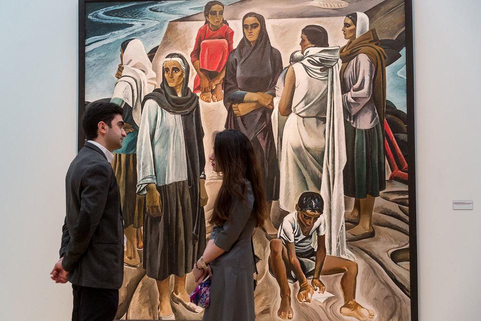 Героини картин Таира Салахова так же сдержанны, как и герои