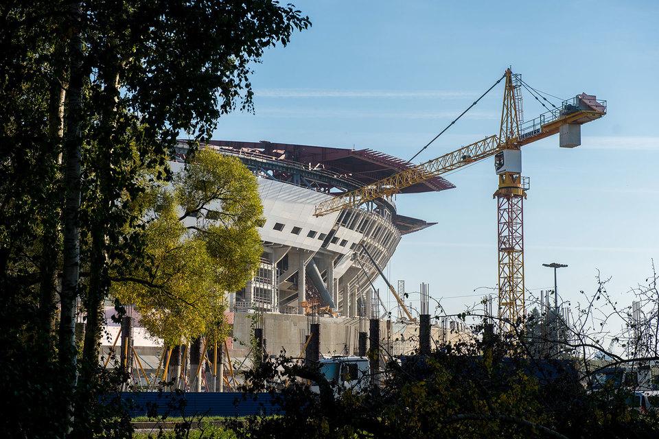 Плановый обход строящегося стадиона «Зенит-арена» был в сентябре 2015 г.