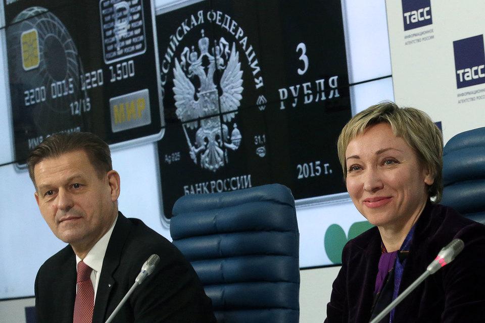 Зампред ЦБ Ольга Скоробогатова (на фото справа) и гендиректор НСПК Владимир Комлев не преминут напомнить банкирам о «Мире»