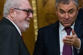 Председатель Парламентской ассамблеи Совета Европы (ПАСЕ) Педро Аграмунт и спикер Госдумы РФ Вячеслав Володин встречались в январе